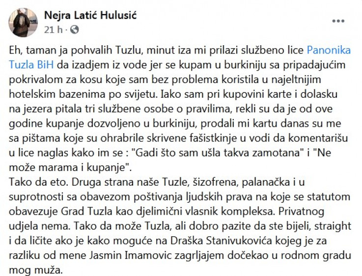 Status Nejre Latić-Hulusić