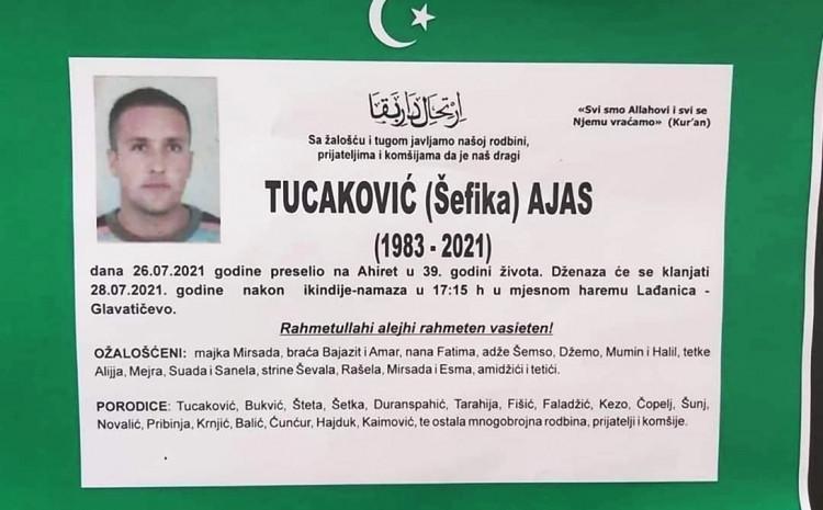 Osmrtnica Ajasa Tucakovića