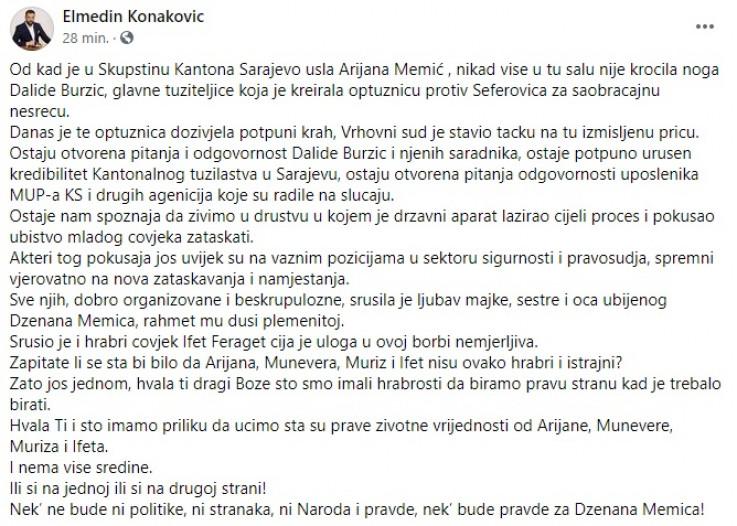 Status Elmedina Konakovića