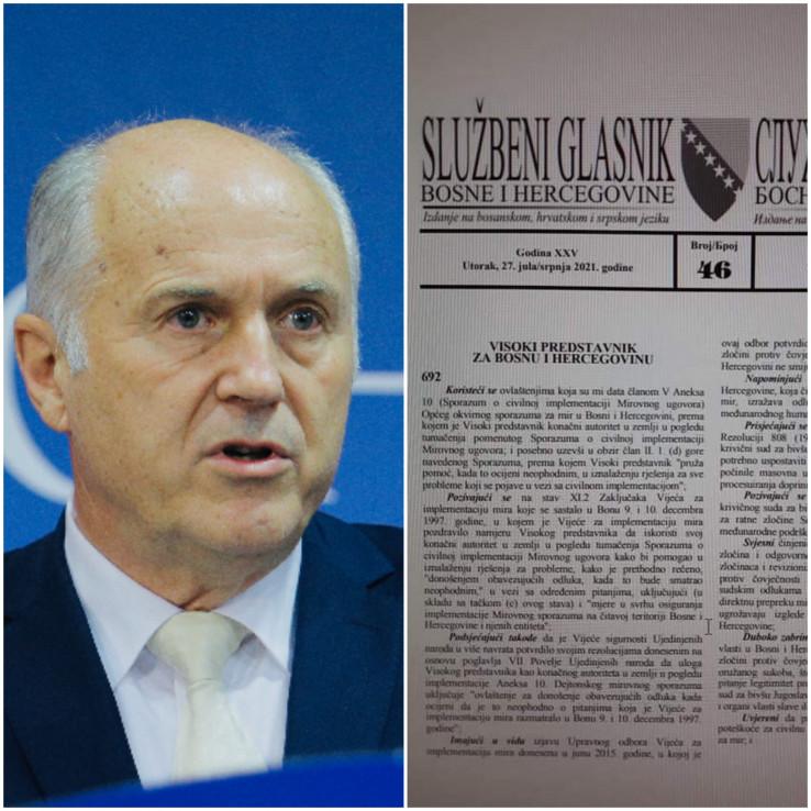 """Incko: Nametnuo izmjene Krivičnog zakona BiH koje su objavljene u """"Službenom glasniku BiH"""""""