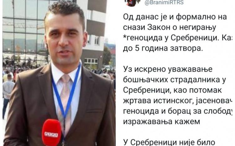 Branimir Đuričić: U Srebrenici nije bilo genocida