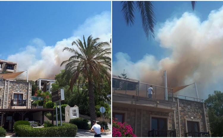 Požar buknuo iznad hotela gdje su smješteni bh. turisti