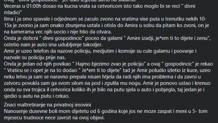 Šokantna objava Hani Hadžić na Facebooku