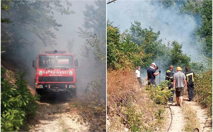 Vatra se širi prema naseljenim mjestima