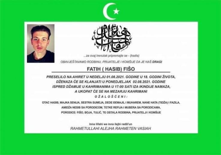 Osmrtnica Fatiha Fiše