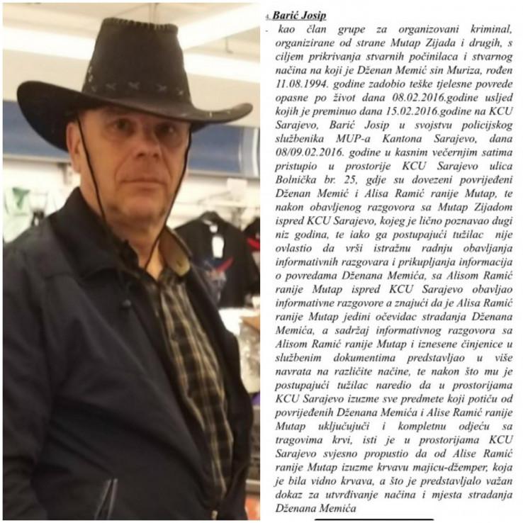Josip Barić: Zašto nije izuzeo krvavi džemper Alise Mutap
