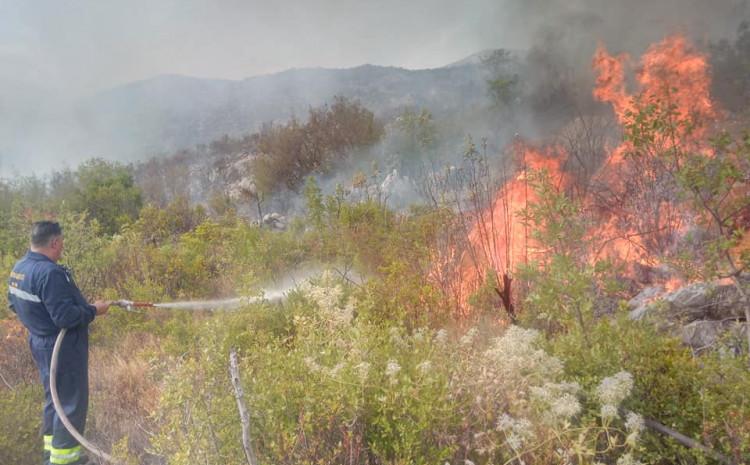S jednog od požarišta u Neumu