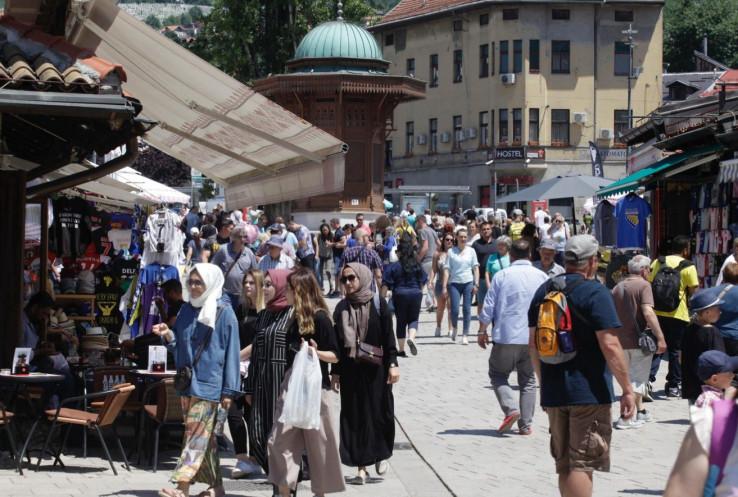 Sarajevo u julu posjetilo 41.508 gostiju