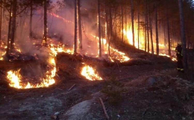 Stanje na požarištu u Jablanici i dalje je nepromijenjeno