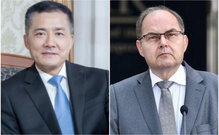 Ambasador Kine Đi Ping i Kristijan Šmit