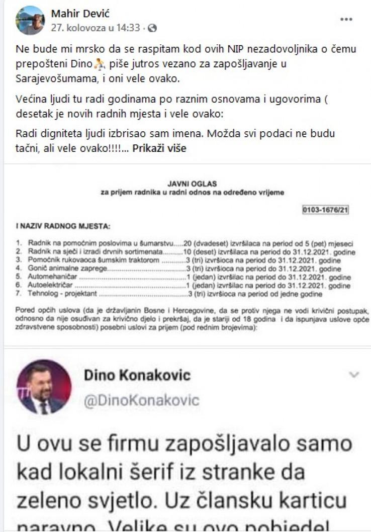 Dević odgovorio Konakoviću