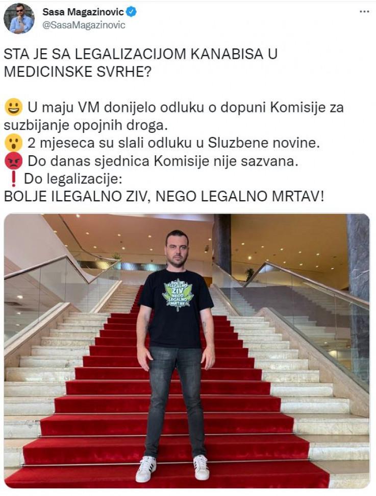 Objava Saše Magazinovića