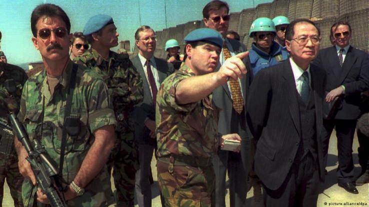 Yasushi Akashi u Sarajevu 1995. godine