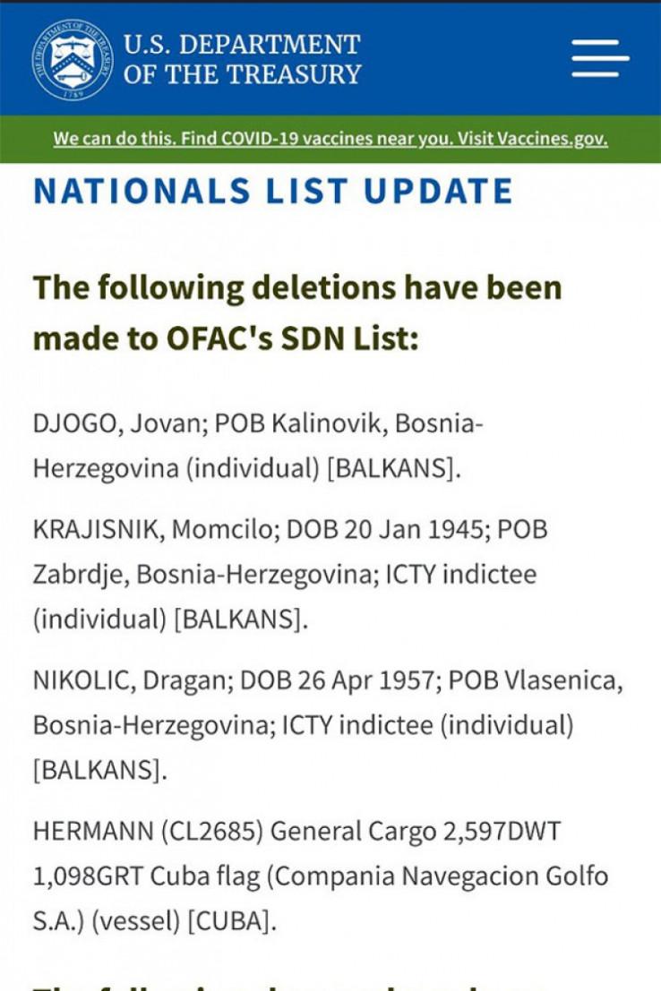 Balkansku listu uveo Buš