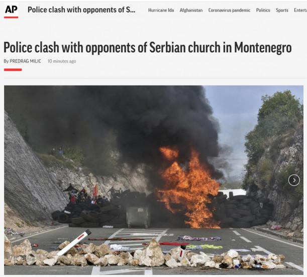 Brojni mediji prenijeli nemile događaje iz Crne Gore