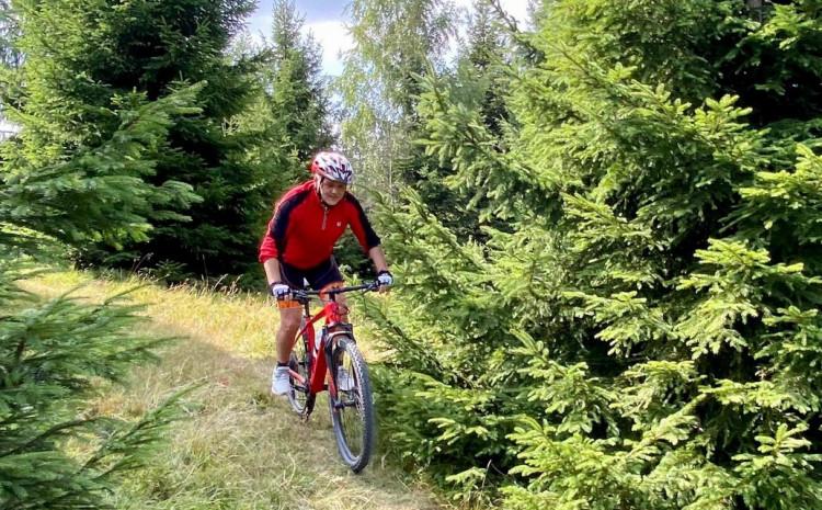Satler uživao u vožnji biciklom