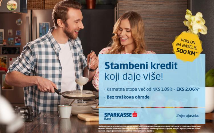 Poklon bon od 500 KM za kupovinu kućanskih aparata uz novi stambeni kredit Sparkasse banke