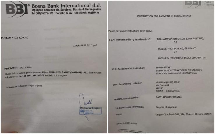 Račun za novčane uplate u inostranstvu