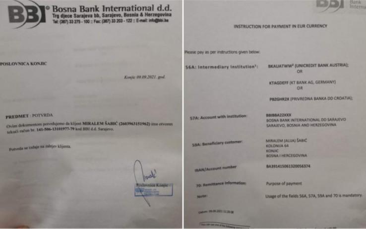 Otvoren je račun za novčane uplate iz BiH za Miralema u BBI banci broj 141-506-13101977-79