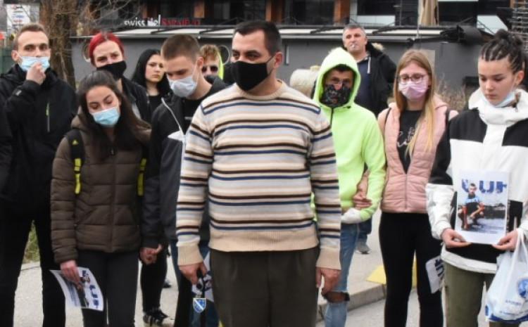 Muhamed Ibrahimović na protestima