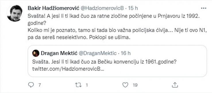 Mektićev odgovor i Hadžiomerovićeva argumentacija
