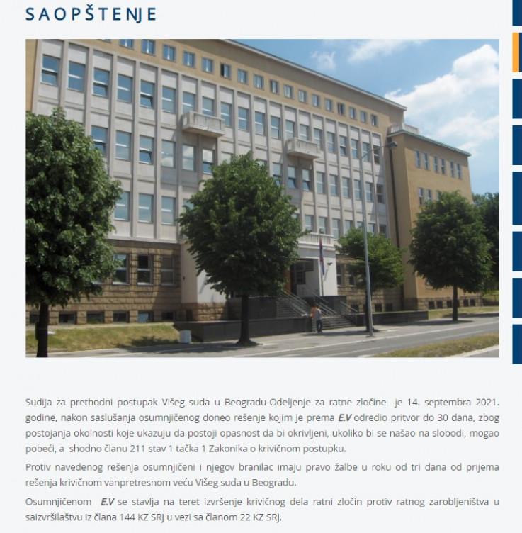 Saopćenje Suda u Beogradu