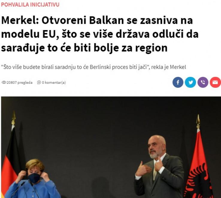 Screenshot teksta sa portala Vijesti.me