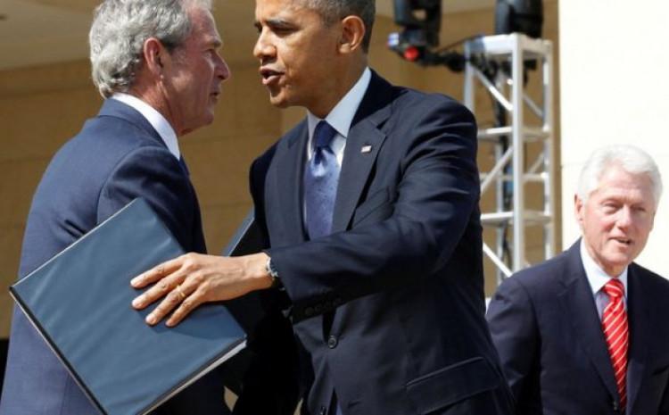 Tri bivša američka predsjednika, Buš, Obama i Klinton