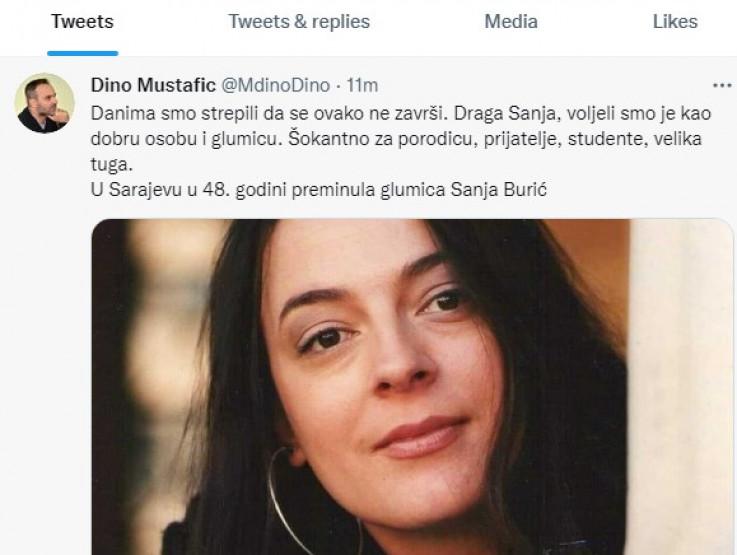 Mustafić: Voljeli smo je kao dobru osobu i glumicu