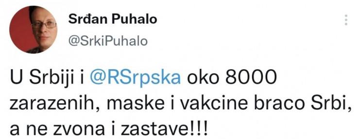 Tvit Srđana Puhala