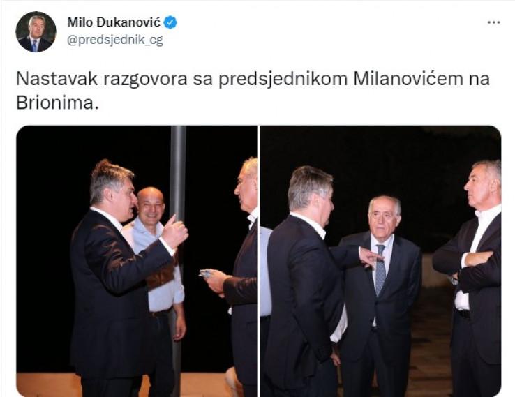 Objava Đukanovića na Twitteru