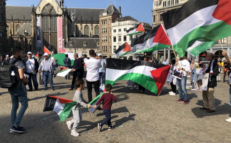 Protest solidarnosti sa palestinskim zatvorenicima održan je na Trgu Dam
