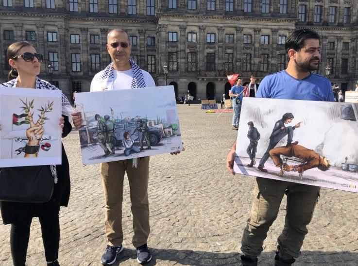 Demonstracija je završila izložbom fotografija koja opisuje patnje palestinskih zatvorenika