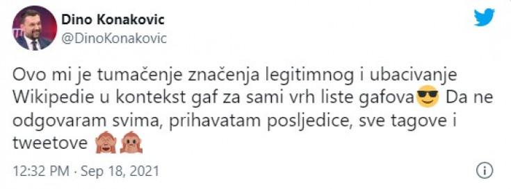 Twitt Dine Konakovića