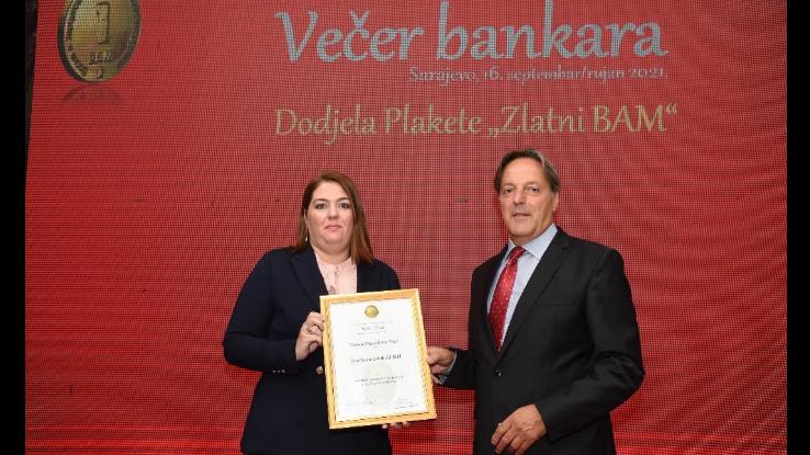 Sparkasse Banka dobila priznanje Zlatni BAM za poseban doprinos promociji risk menadžmenta u BiH