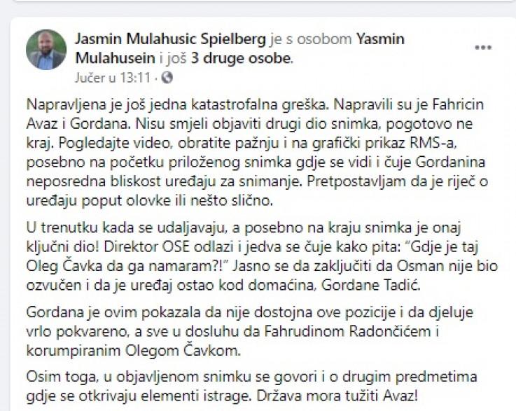 """""""Vještačenje"""" bota Mulahusića"""