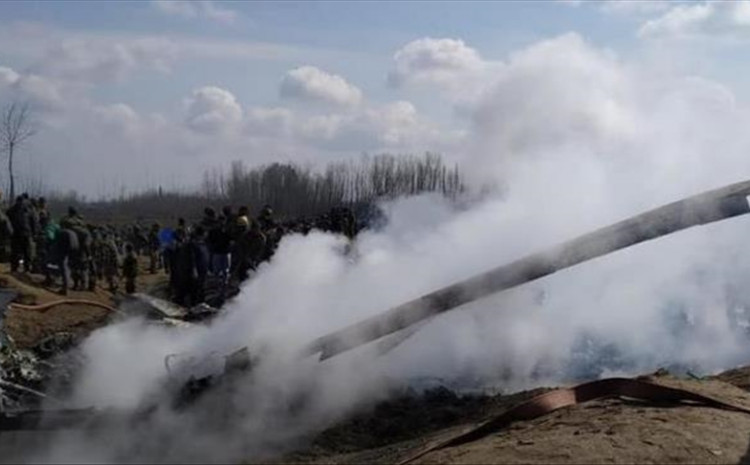 The wreckage of the helicopter was found in the dense forest of the Shiv Garh Dhar area