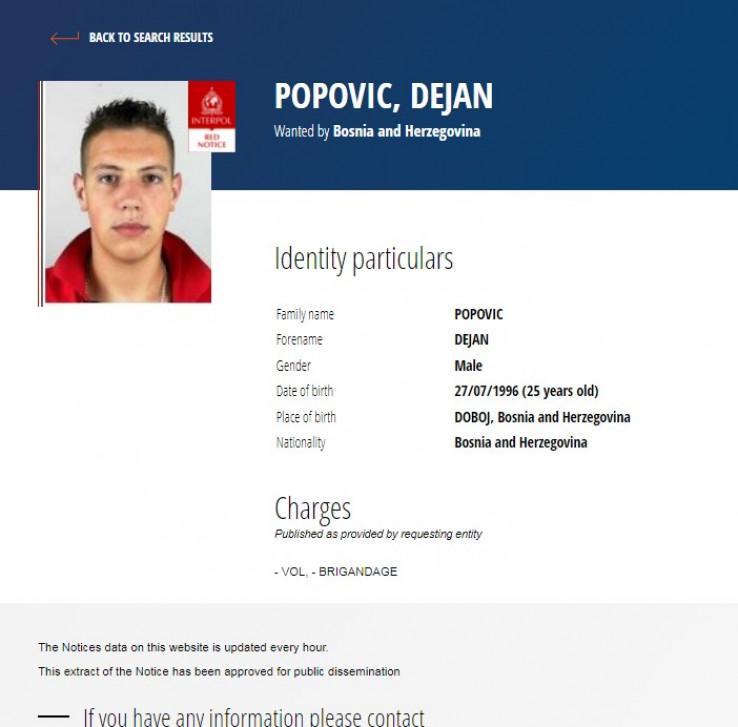 Popović na stranici Interpola
