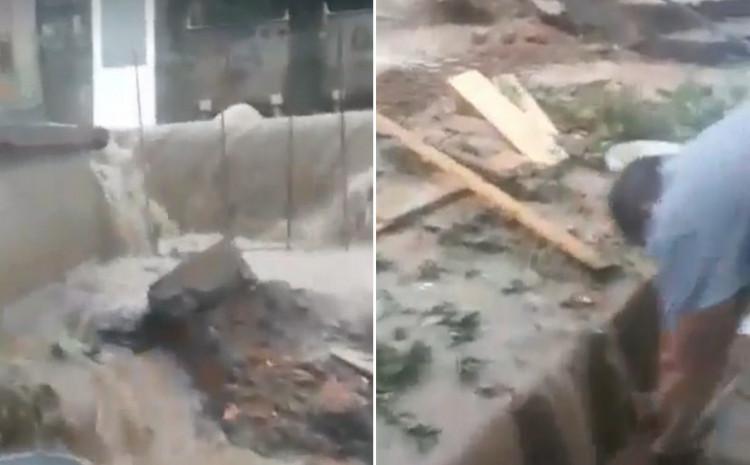 Voda ušla u dvorišta i kuće