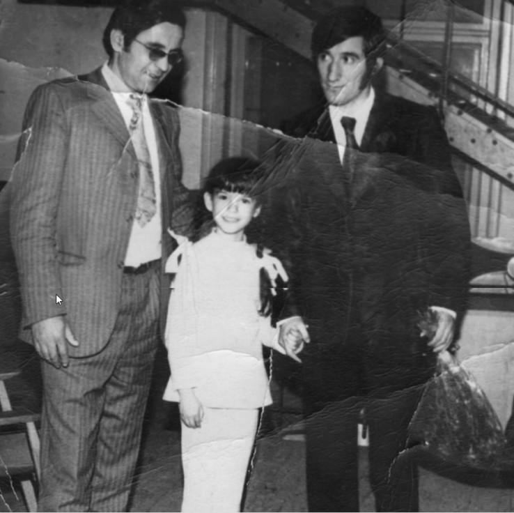 Uspomena iz albuma: Žaklina s ocem