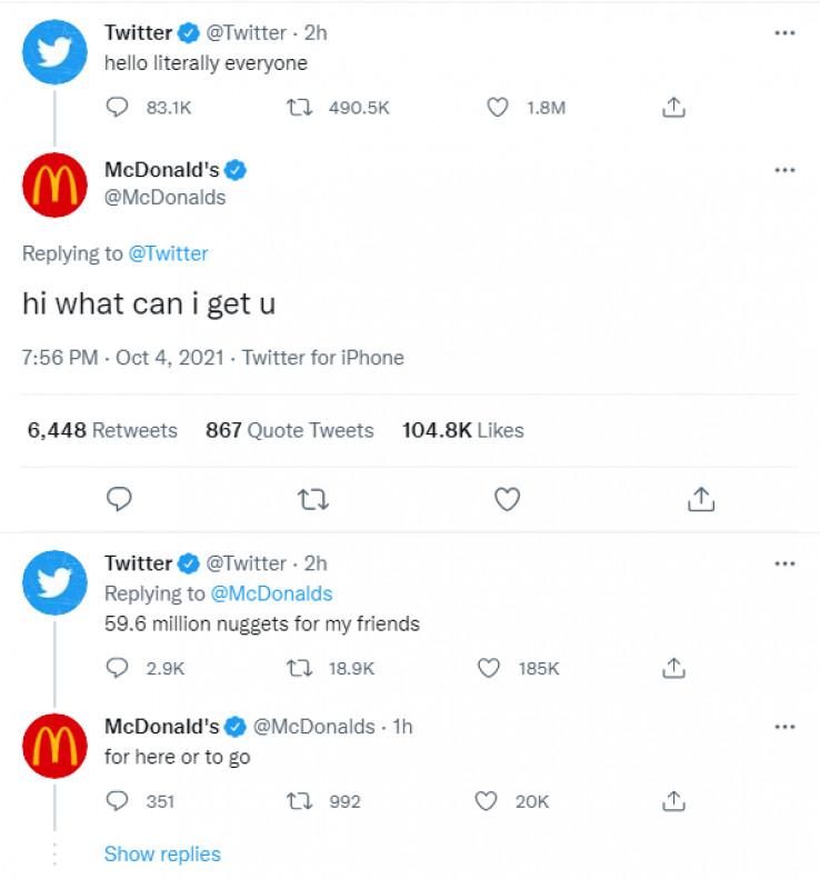 Prepiska na Twitteru