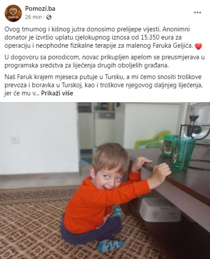 Status Udruženja Pomozi.ba