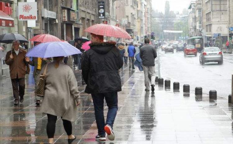 Veći dio dana padat će kiša