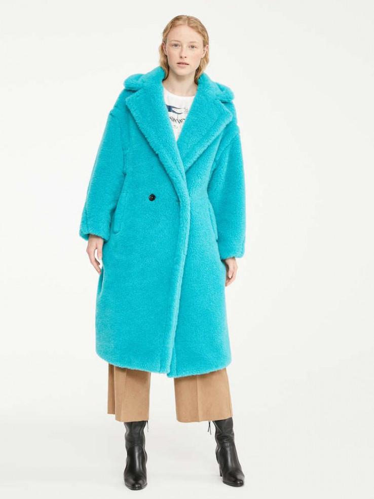 Upečatljivi tirkizni kaput