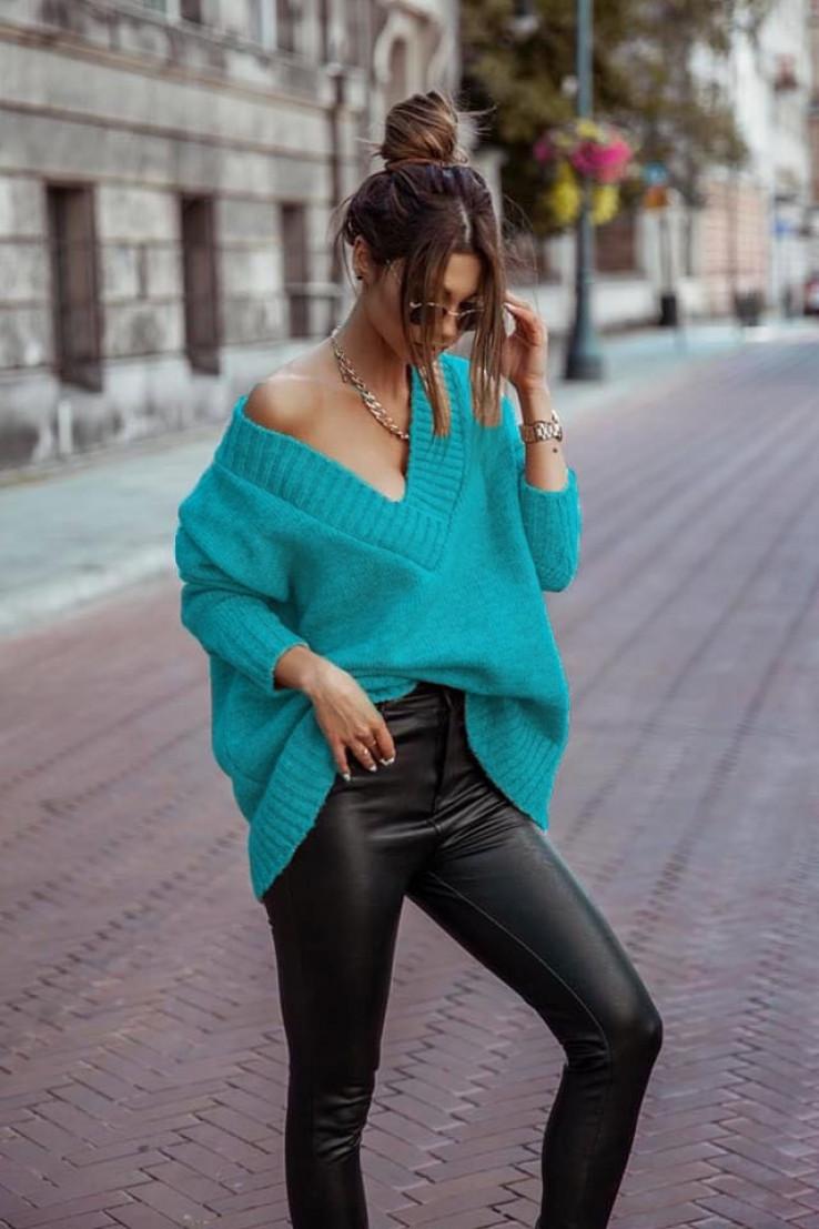Tirkizni džemperi uvijek su dobar izbor tokom hladniji dana