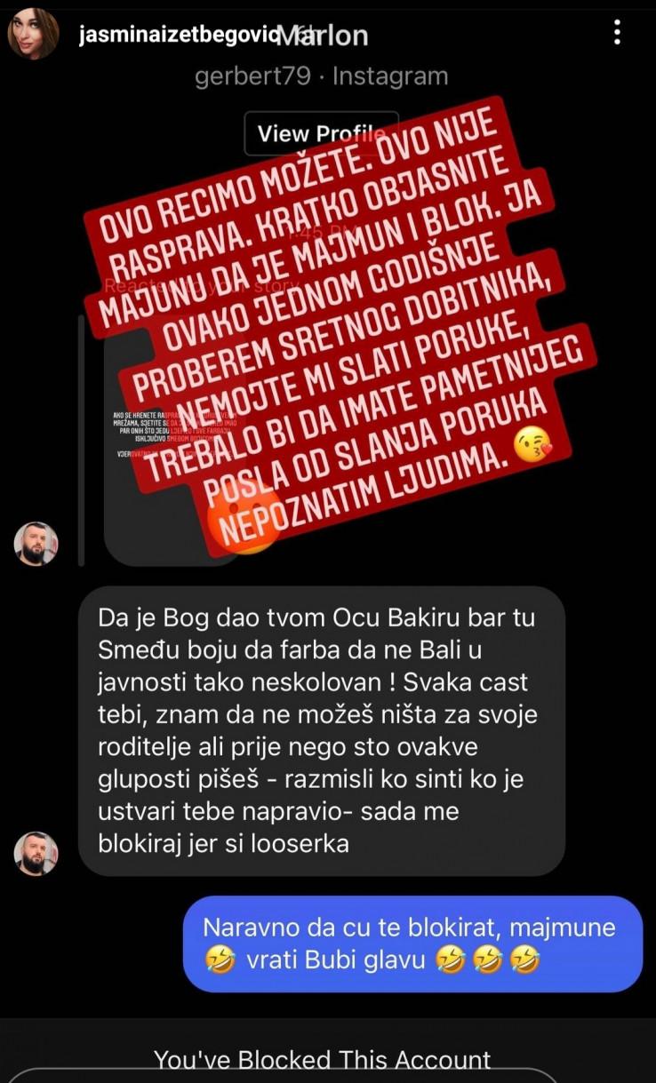 Komentar pratioca i odgovor  Jasmine Izetbegović