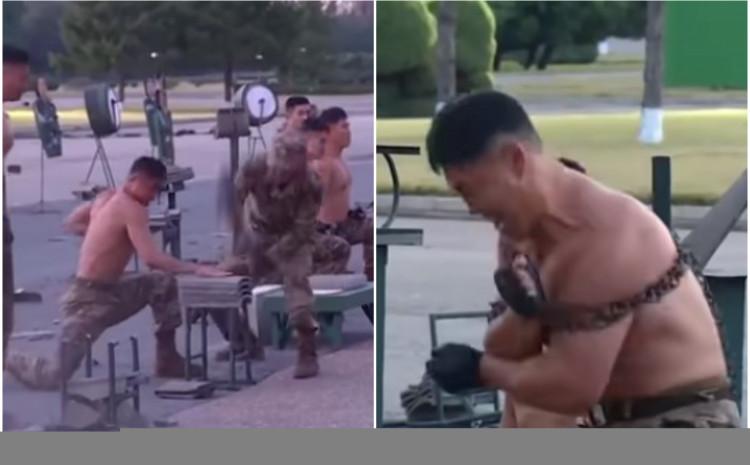 Vojnici sve izveli pred očima lidera