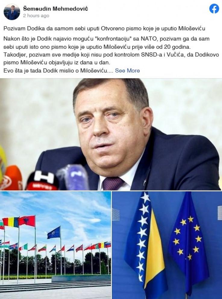 Status koji je Mehmedović objavio
