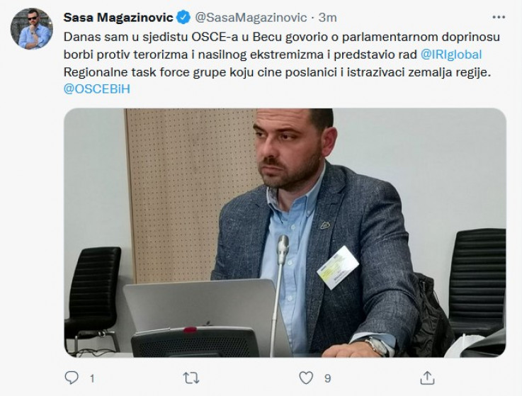 Status magazinovića na Twitteru