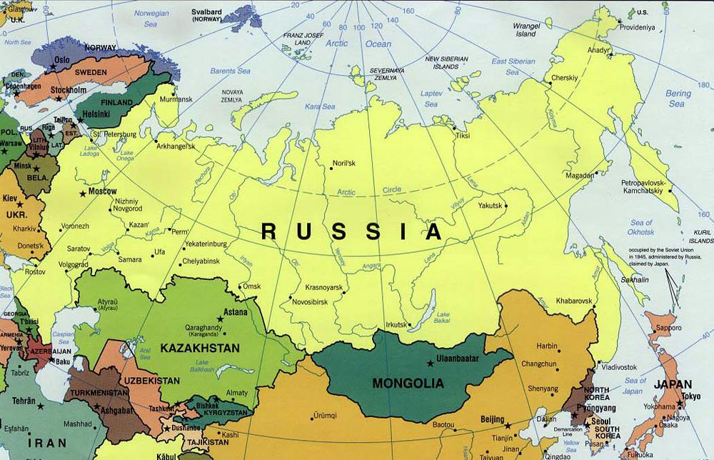 Auto Karta Rusije Karta